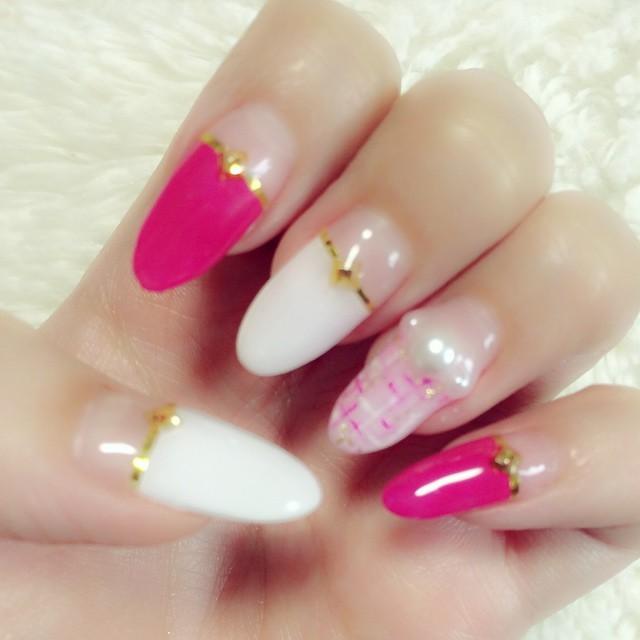 【やっぱピンクがすき♡】ちょーかわいい《秋×ピンク》の愛されネイル5選♡*。