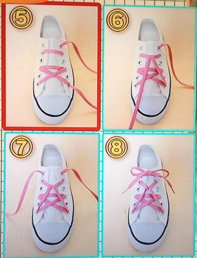 靴 結び方 の 可愛い 紐