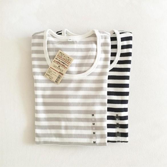 ボーダーTシャツは無印が優秀!