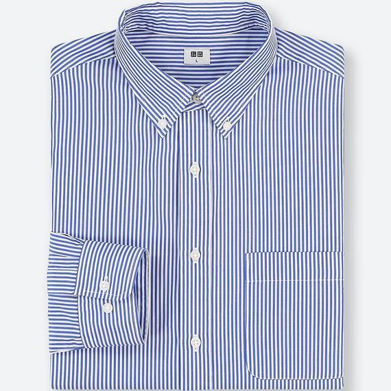 エクストラファインコットンブロードストライプシャツ(ボタンダウン・長袖)
